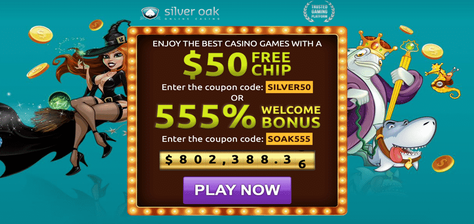50 free chip bonus code at silver oak