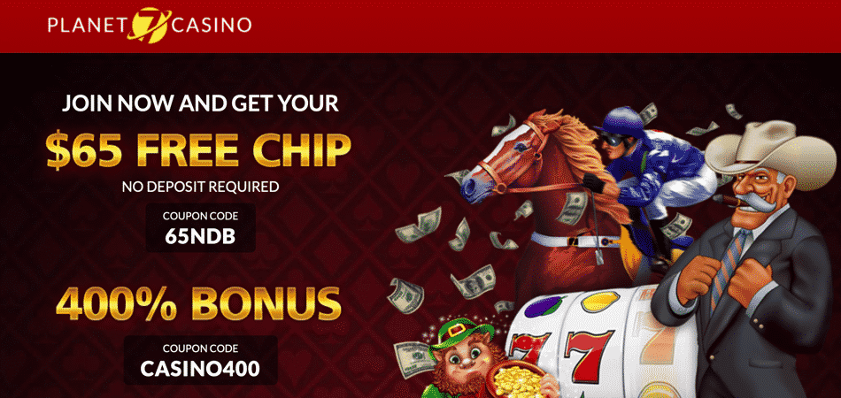 65 free chip bonus code at planet 7