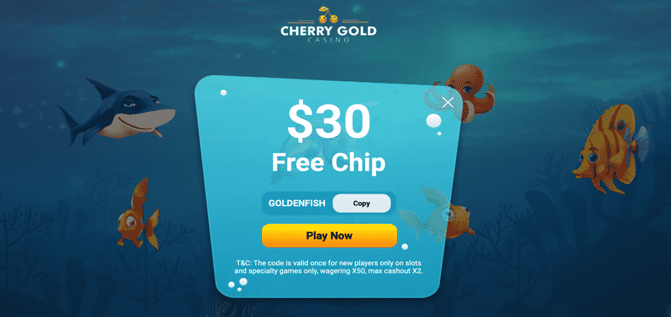 big fish bonus code at cherry gold casino