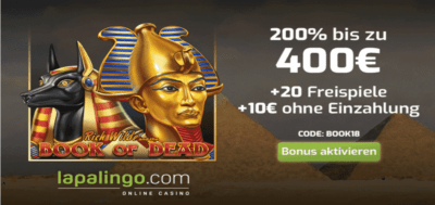 book of dead free spins bonus code