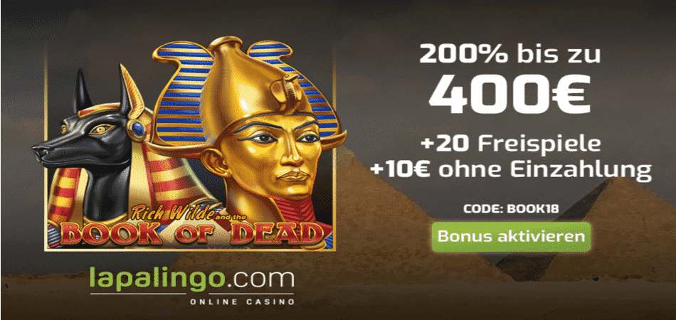 book of dead free spins codice bonus