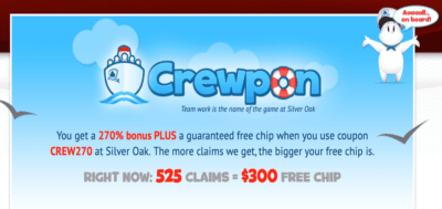 crewpon 1000$ free chip bonus codes