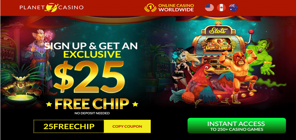 25 free chip bonus code at planet 7