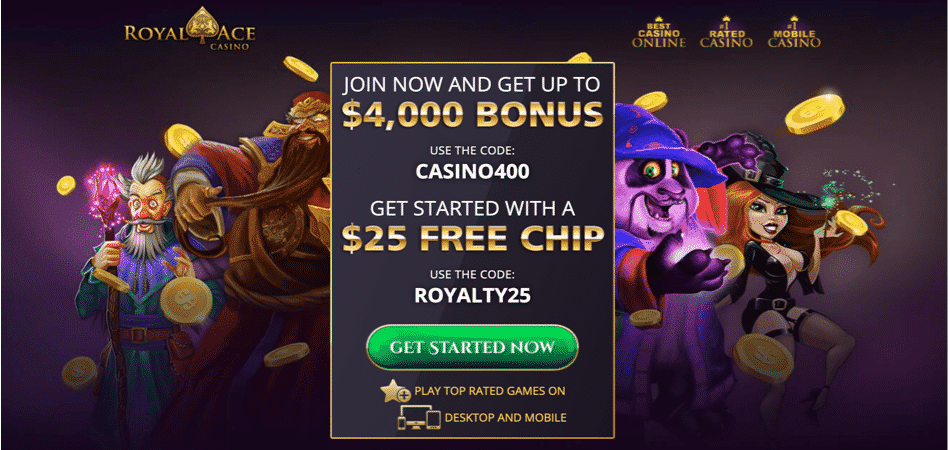 royal ace 25 free chip bonus code