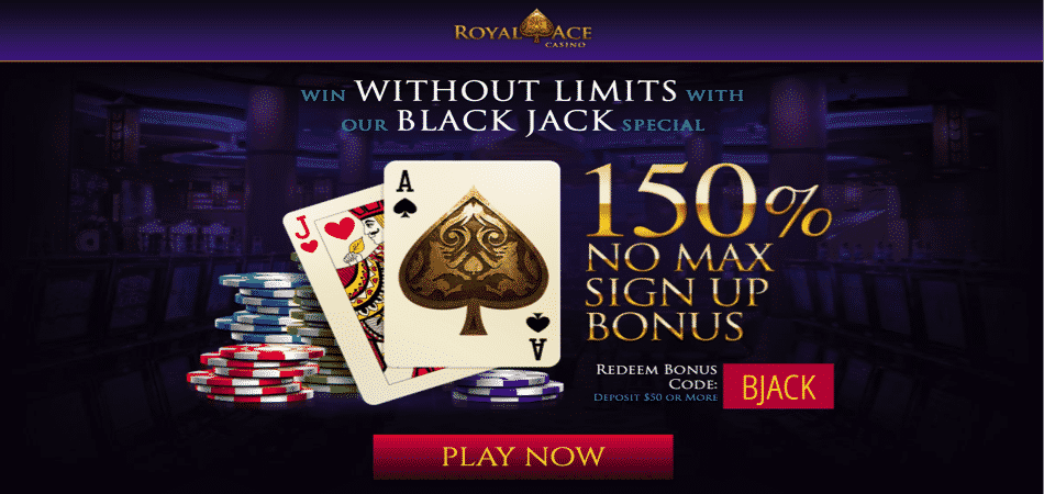 Royal Ace Blackjack bonus code