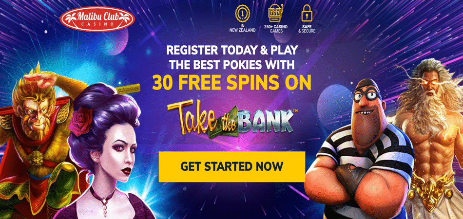 take the bank 30 free spins offer