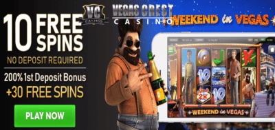 weekend in vegas free spins bonus code