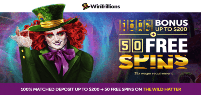 wintrillions free spins bonus offer