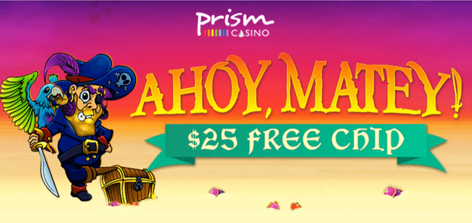 $25 free chip for Ahoy, Matey slots game