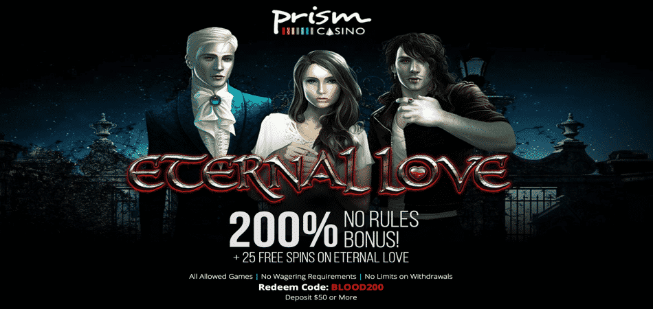 eternal love free spins bonus code offer