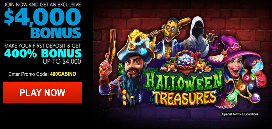 halloween treasures deposit bonus code