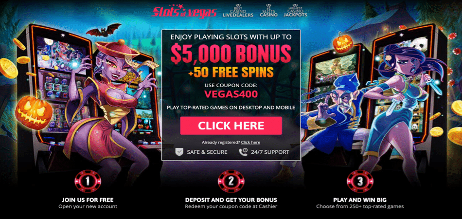 50 Free Spins to use in I, Zombie at Slots of Vegas