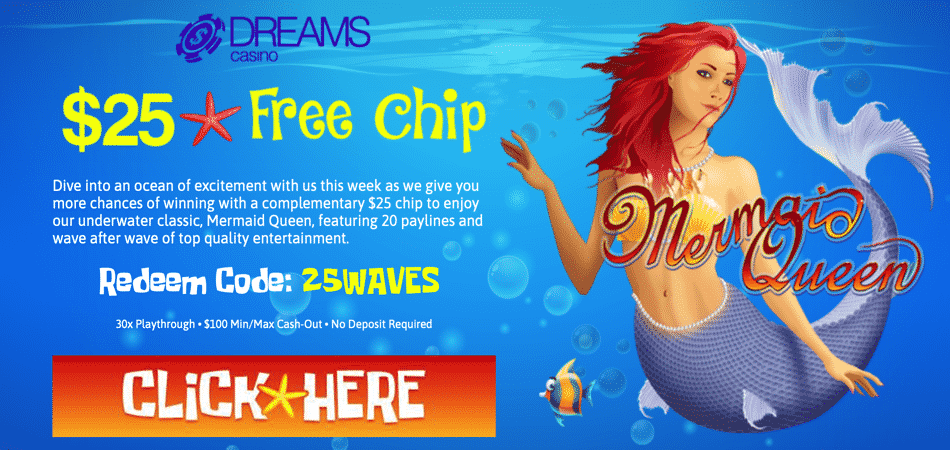mermaid queen free chip