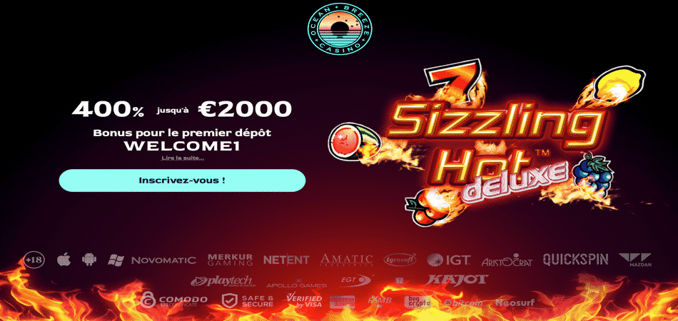 sizzling hot french bonus offer