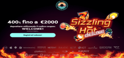 sizzling hot italian bonus offer