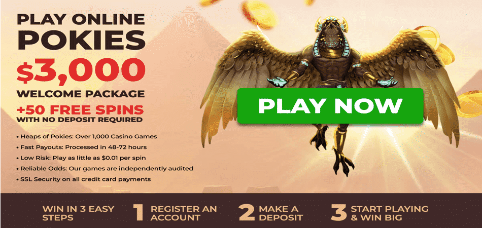50 free spins no deposit at pokie place