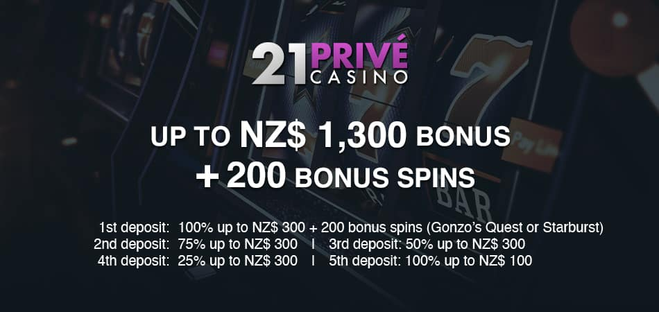 21Prive offer for New Zealand Players