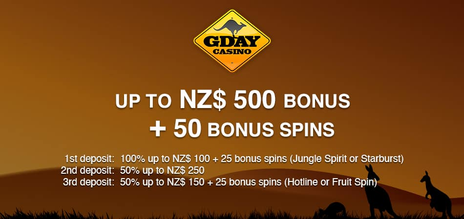 GDay Casino Offer for New Zealand players