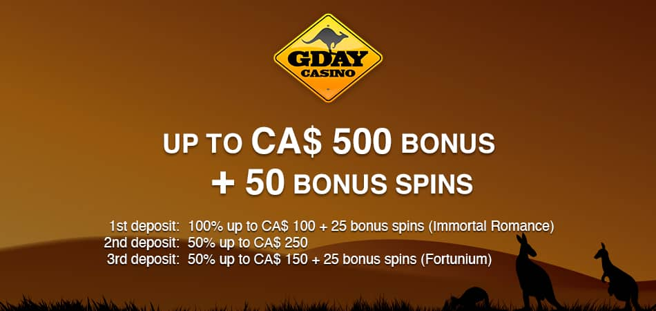 gday casino canadian offer