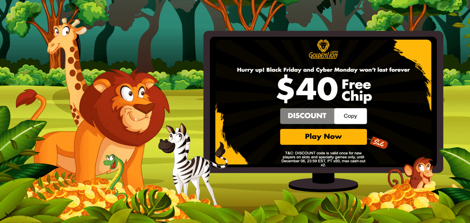 golden lion blackfriday and cybermonday offer