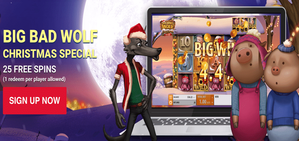 big bad wolf 25 free spins