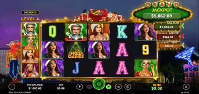 epic holiday party slots