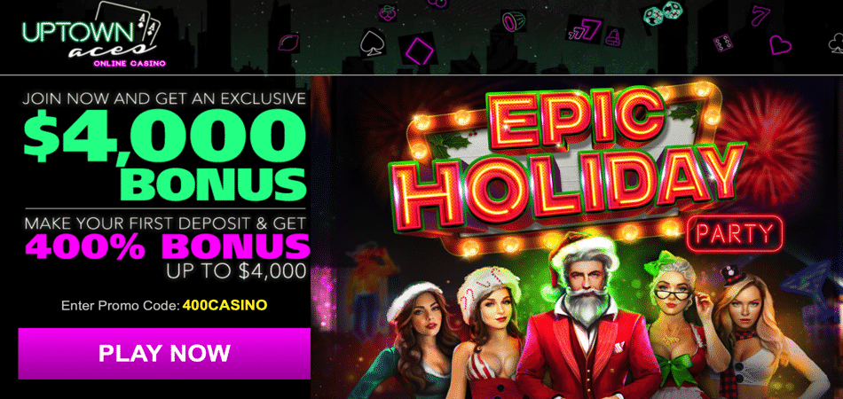 epic holiday party bonus code at uptown aces