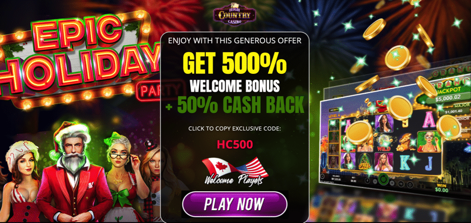 high country casino christmas cashback bonus code