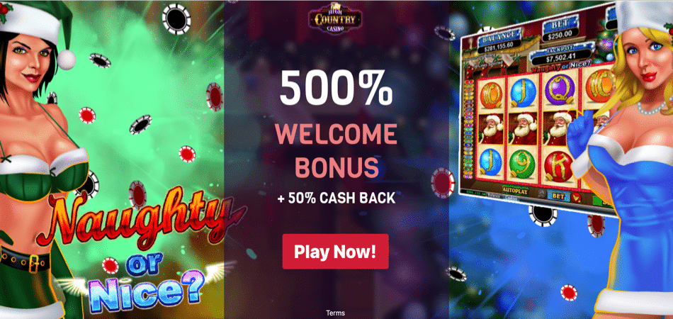 naughty or nice bonus code at high country casino