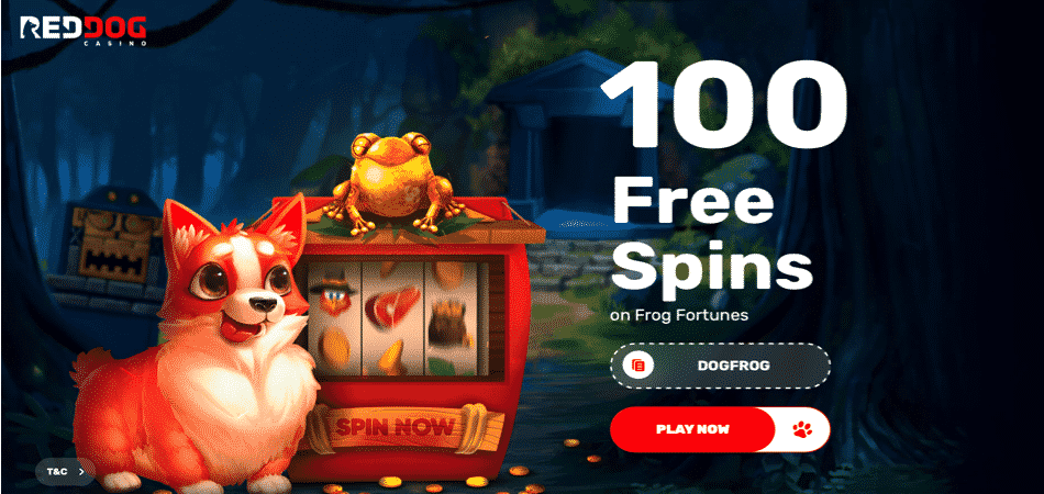 red dog frog fortunes bonus code