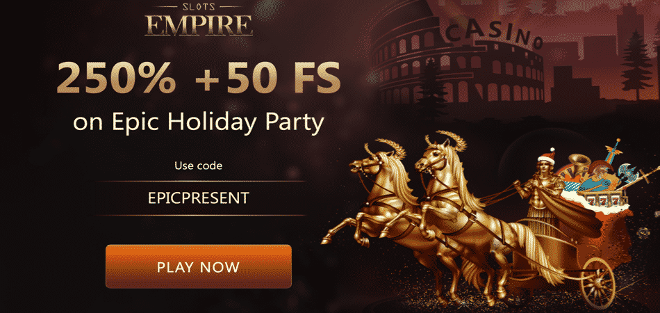 slots empire epic holiday party bonus code