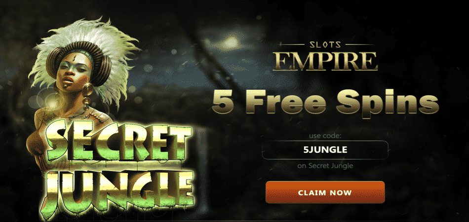 slots empire secret jungle bonus code