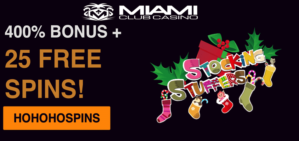 get 25 free spins in stocking stuffers slot machine