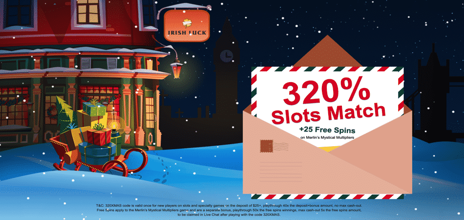 xmas bonus code irish luck casino