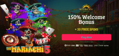 20 free spins on the mariachi 5 at sun palace