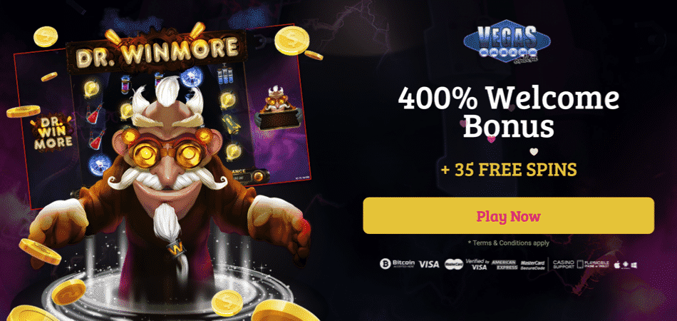 35 free spins on dr win more at vegas casino