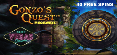 40 free spins promo code - gonzo's quest megaways