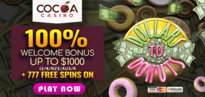 cocoa casino australian offer 777 free spins