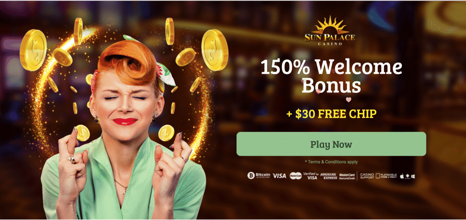 sun palace new player offer