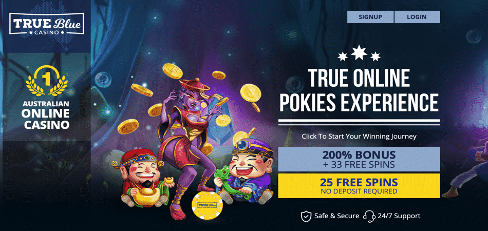 true blue no deposit bonus code