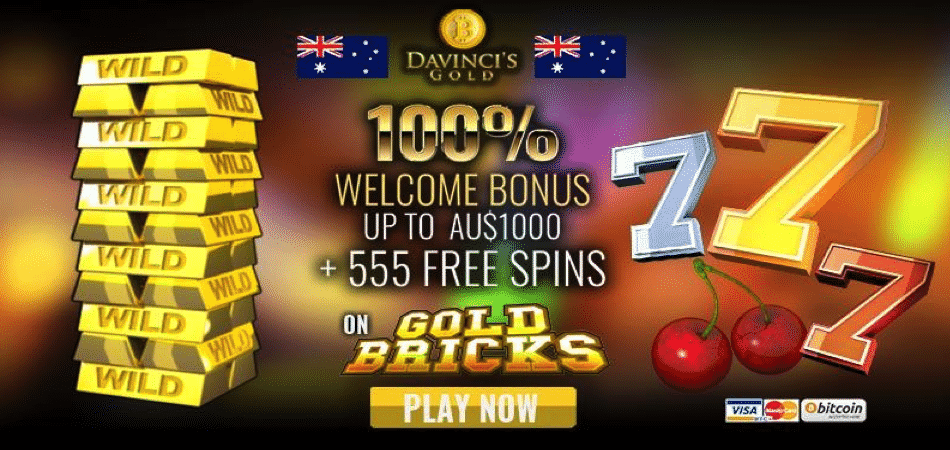 555 free spins on gold bricks - australian bonus