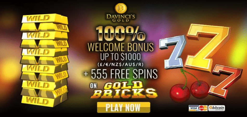 555 free spins on gold bricks - nz/au/fr/zar bonus