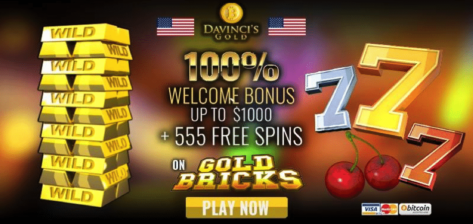 555 free spins on gold bricks - usa bonus