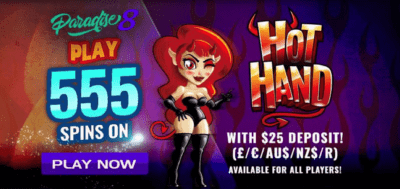 hot hand free spins paradise 8