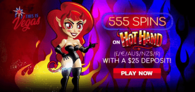 hot hand free spins this is vegas