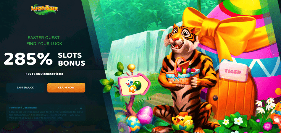 lucky tiger easter casino promotion