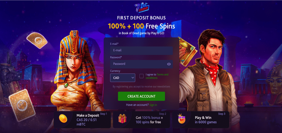 100 free spins canadian offer - 7bit casino