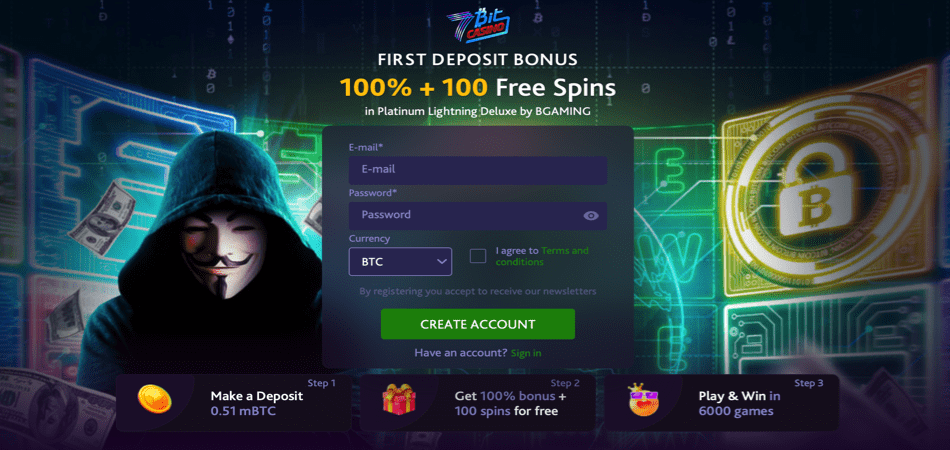 100 free spins cryptocurrency offer
