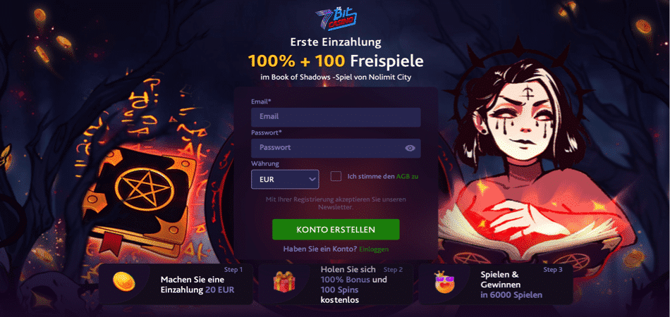 100 free spins german offer - 7bit casino