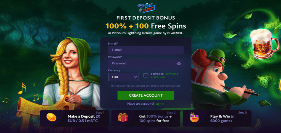 100 free spins irish offer - 7bit casino